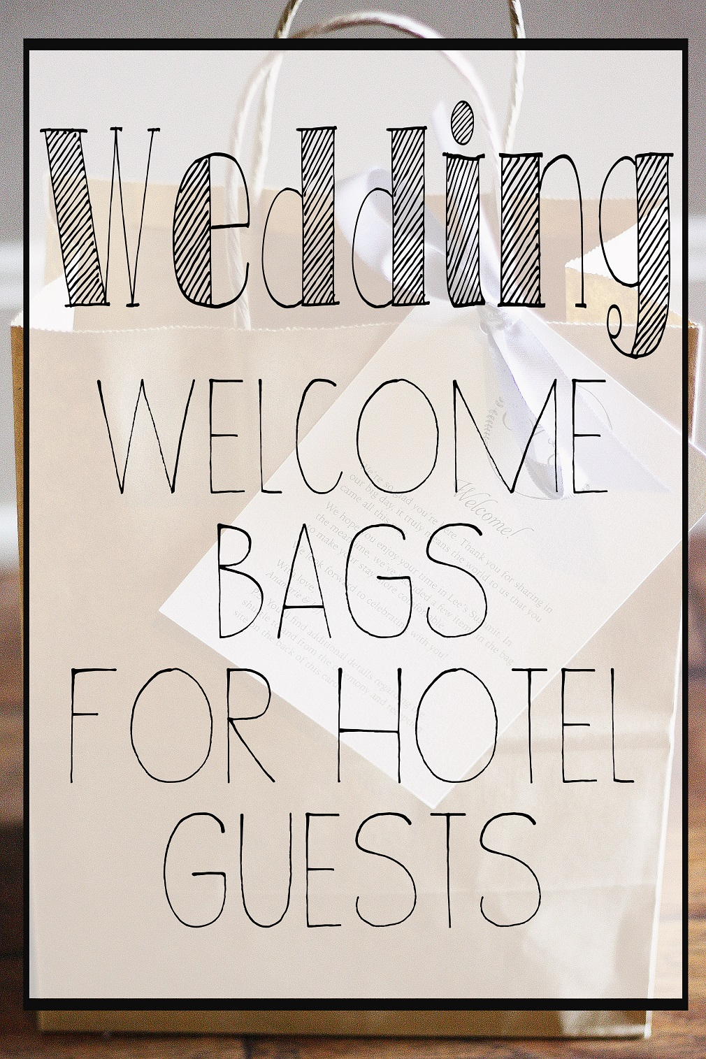 Assembling welcome bags for our out-of-town wedding guests… – Less ...
