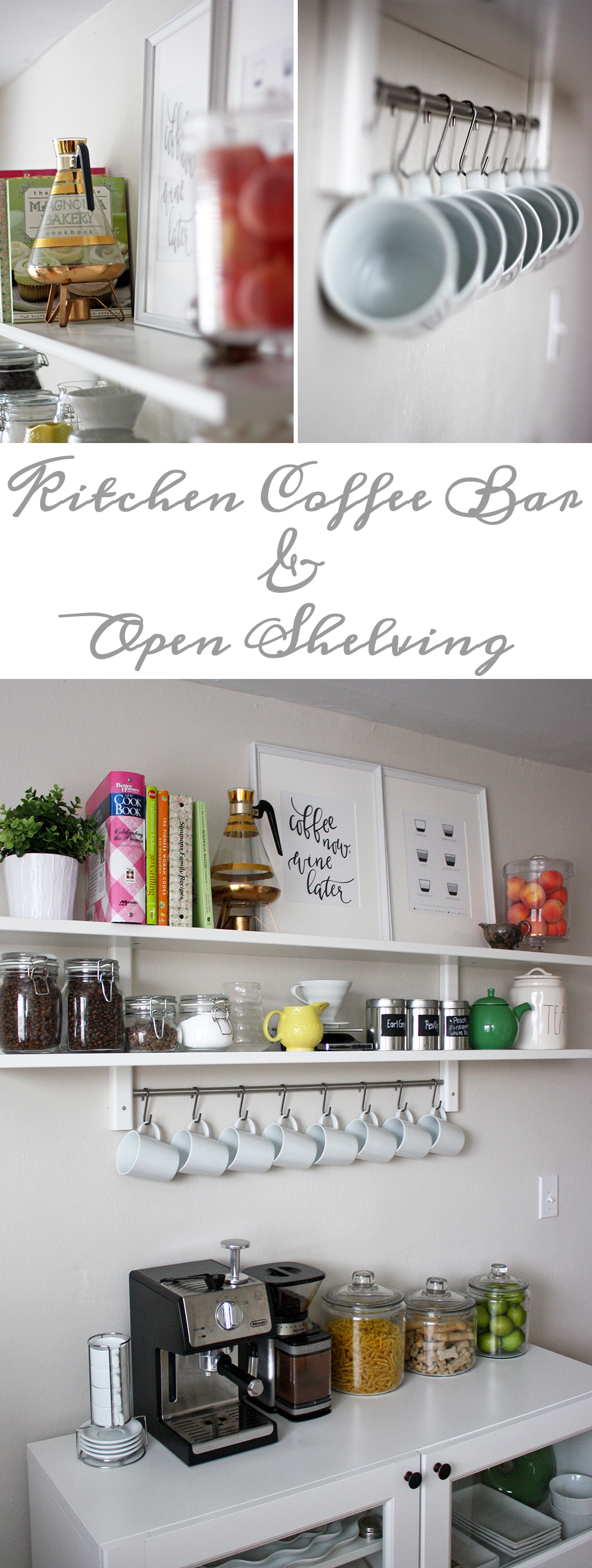 Kitchen Coffee Bar and Open Shelving … – Less Than Average Height